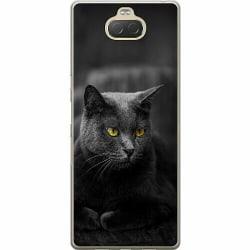 Sony Xperia 10 Plus Mjukt skal - Black Cat