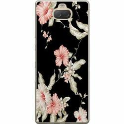 Sony Xperia 10 Plus Mjukt skal - Floral Pattern Black