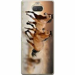 Sony Xperia 10 Plus Mjukt skal - Hästar