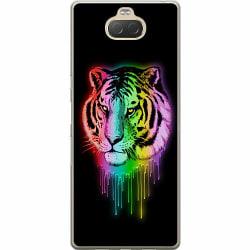 Sony Xperia 10 Plus Mjukt skal - Neon Tiger
