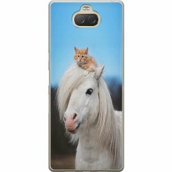 Sony Xperia 10 Plus Thin Case Horse with CatHat