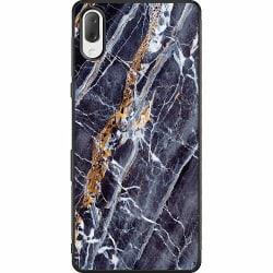 Sony Xperia L3 Soft Case (Svart) Marmor