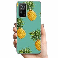 Xiaomi Mi 10T TPU Mobilskal Pineapples Teal
