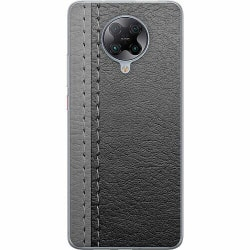 Xiaomi Poco F2 Pro Mjukt skal - Black & Grey Leather