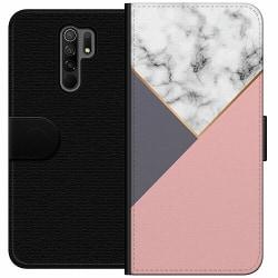 Xiaomi Redmi 9 Wallet Case Marble Cut