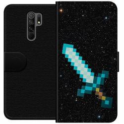 Xiaomi Redmi 9 Wallet Case Minecraft Svärd
