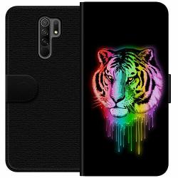Xiaomi Redmi 9 Wallet Case Neon Tiger