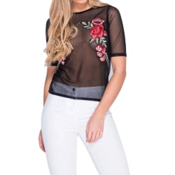 Mesh cover topp Embroided roses