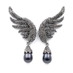 Pearl Angelwing Black Örhängen