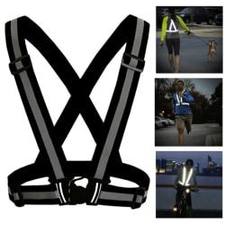 Reflexväst/Reflexsele för löpning och cykling Svart