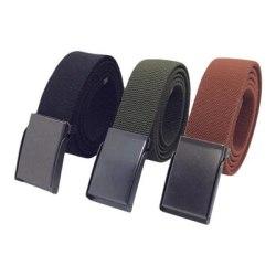 No1 Elastiskt Bälte/Skärp Unisex One size 3-Färger Black Svart
