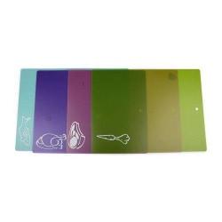 No1 4-Pack Skärbräda Skärbrädor i olika färger
