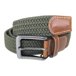 No1 Elastiskt bälte / skärp Army Green  -  4olika längder  Green Längd: 90cm  (90-117 cm)