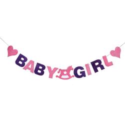 Baby shower girland, Baby Girl