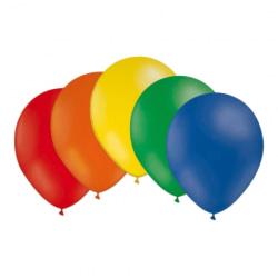 Ballonger i latex 12-pack, Blandade färger