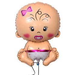 bebis ballong till baby shower, flicka