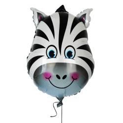 Djur folieballong Zebra