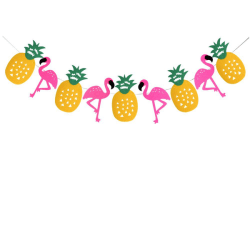 Flamingo ananas fest girlang 3m