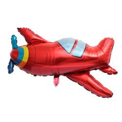 flygplan folieballong, helium ballong