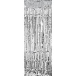 Glitterdraperi , Dörrdraperi - Silver
