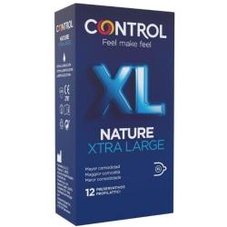 Control Nature XL Kondom 12-pack - Extra Stor Transparent