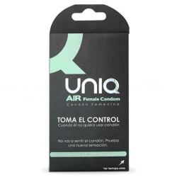 UNIQ AIR Kvinnlig Kondom 3-pack - Kondom för Kvinnor Natur