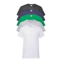 5 pack T-shirt V-neck Men Fruit of the Loom Multicolor L