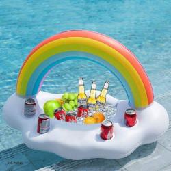 Uppblåsbar Bardisk / Ishink / Dryckeshållare Pool - Rainbow