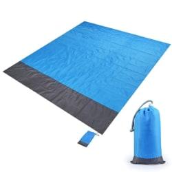 Strandfilt / Picknickfilt XL - Blå - 200x210cm