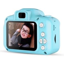Digitalkamera för barn -  Full HD + SD minneskort - Blå