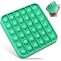 10-pack - Fidget Pop It Fyrkant Grön