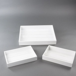 Brickor vit trä 3-pack