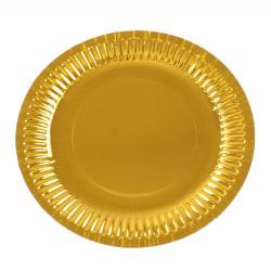 Papperstallrikar Guld 10-pack - Engångstallrik