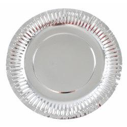 Papperstallrikar Silver 10-pack - Engångstallrik