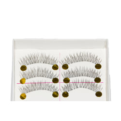 10 par lösögonfransar fransar false eyelashes Svart