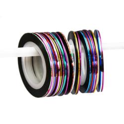 5 st rullar Nageltejp Nail Art Stripes
