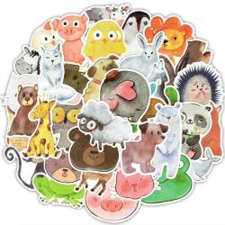 50st stickers klistermärken - Djur motiv - Cartoon multifärg