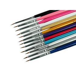 1st nagelpensel för nail art multifärg