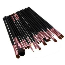20st Sminkborstar - makeup brushes - Rosé Rosa guld