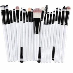 20st Sminkborstar - makeup brushes - Vit svart Vit
