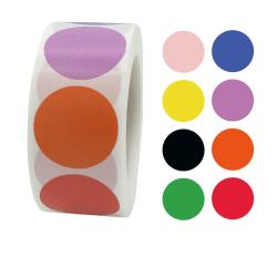 500st stickers klistermärken - Prickar / Dots motiv - Cartoon multifärg