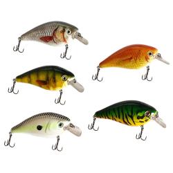 5st fiskedrag i ask - Wobbler - Gäddfiske - gäddbete