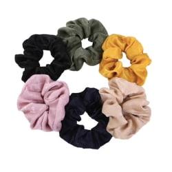 5st hair Scrunchies, hårsnoddar , hårband , Hair bands  multifärg one size