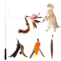 5st Kattleksaker med fjädrar - Cat toy - Teleskopiskt multifärg