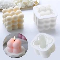 2-pack DIY - Candle molds - Candle Big/Small, Gjutform, Ljusform Vit