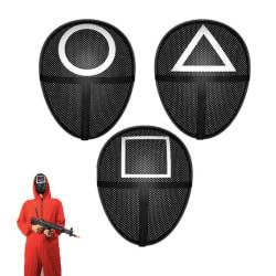 Squid game Mask - Cosplay Halloween - Black Triangel