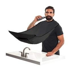 Förkläde för Rakning & Skägg - Samlar upp skägget - Barber Cape Svart