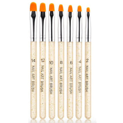7st Akryl/UV Penslar naglar - Guld Guld