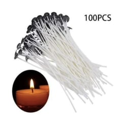 100st Candle Sustainers - Ljusveke - Candle wicks - Vaxade vekar White 18cm