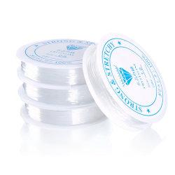 2-pack Transparent elastisk tråd för smyckestillverkning 1mm